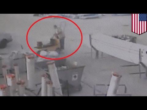 شغيل يقبض على لص نحاس مستخدما الرافعة بعد يوم من السرقة