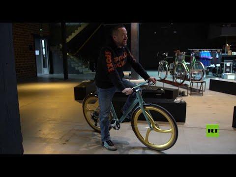 عجلات ذهبية لدراجة هوائية سعرها 10000 دولار
