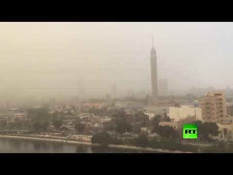 عاصفة رملية تضرب العاصمة المصرية