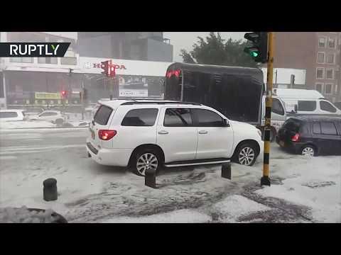 البرد يضرب العاصمة الكولومبية بوغوتا