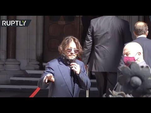 شاهد النجم جوني ديب وطليقته أمبر هيرد أمام المحكمة العليا في قضية التشهير