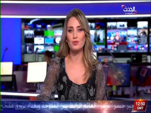 مذيعة العربيّة تتفوه بلفظ خارج على الهواء
