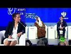 شاهد وزير نفط السعودي الأمير عبد العزيز بن سلمان يشارك في مؤتمر الطاقة في موسكو