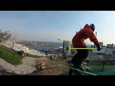 شاهد مغامرة تحبس الأنفاس في منحدر كوبنهاغن للتزلج