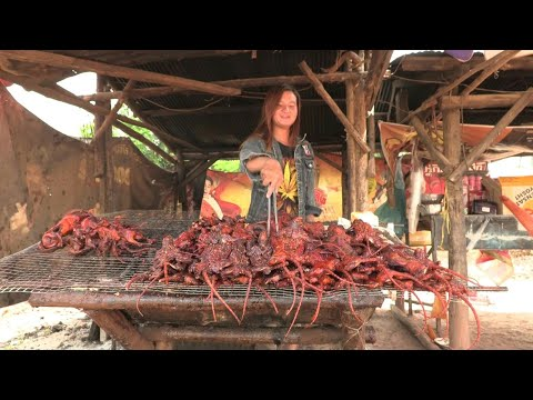 شاهد الجرذان المشوية المتبّلة ببطء على الفحم وجبة تزداد رواجًا في كمبوديا