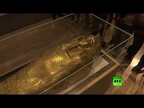 شاهد استعادة التابوت الذهبي إلى مصر من الولايات المتحدة