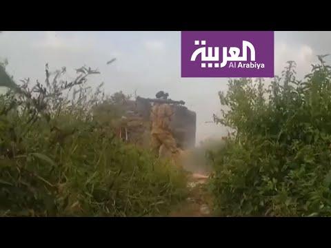 شاهد معارك الجيش الوطني اليمني في مديرتي الظاهر وحيدان