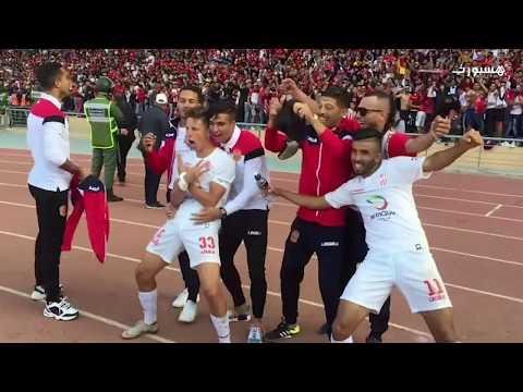 هكذا احتفل لاعبو الحسنية بالتأهل لنهائي كأس العرش