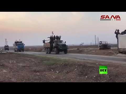 شاهد الجيش السوري يستكمل انتشاره على الحدود مع تركيا بطول 200 كم