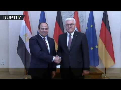 شاهد الرئيس عبد الفتاح السيسي يلتقي رئيس ألمانيا في برلين