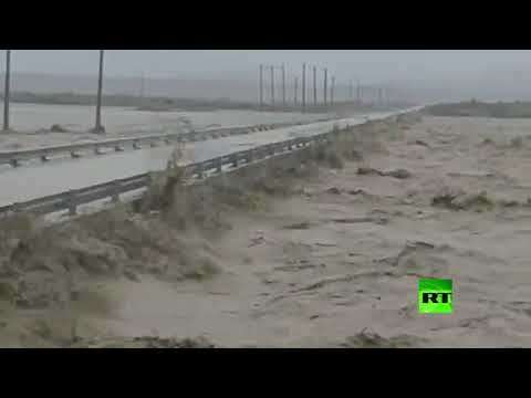 شاهد فيضانات غير مسبوقة في جنوب شرقي إيران