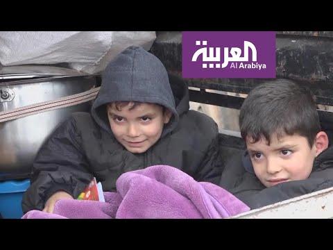 شاهد السوريون بين نيران القصف وزمهرير الطقس للعام التاسع