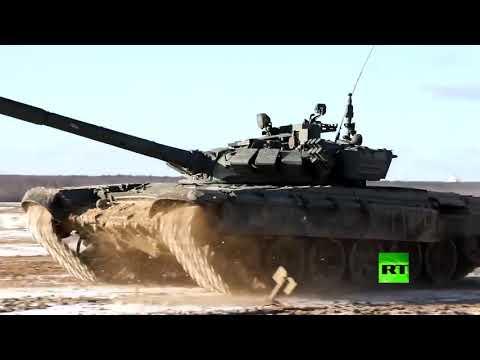 مناورات دبابات تي80 وتي72 بي 3 بالذخيرة الحية في روسية