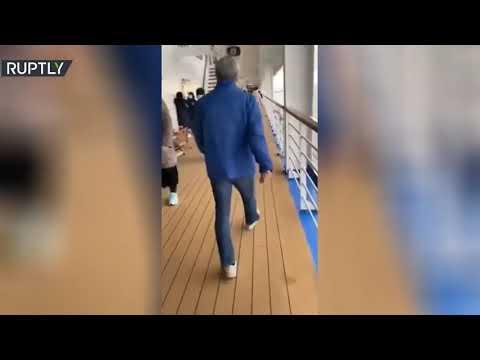 شاهد فيديو من على متن سفينة أميرة الماس الموبوءة بـكورونا