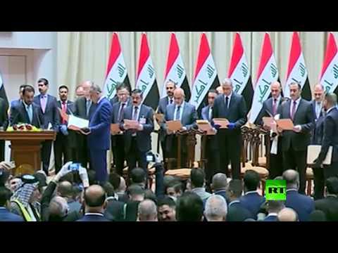 شاهد رئيس الوزراء العراقي الكاظمي يؤدي اليمين الدستورية