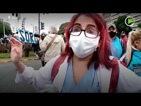مشاجرة بين عمال الصحة ومتظاهرين مناهضين للإغلاق في الأرجنتين