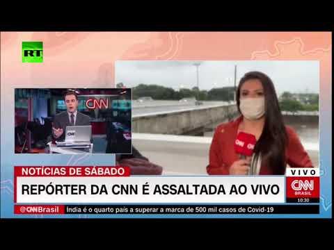 شاهد مذيعة سي إن إن برازيل تتعرض لسطو مسلح على الهواء