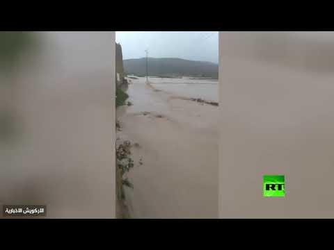 شاهد اللقطات الأولى لانهيار سد الرونة في منطقة حبابة اليمنية