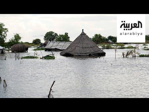 شاهد لقطات لمناطق سودانية غرقت بأكملها في الفيضان