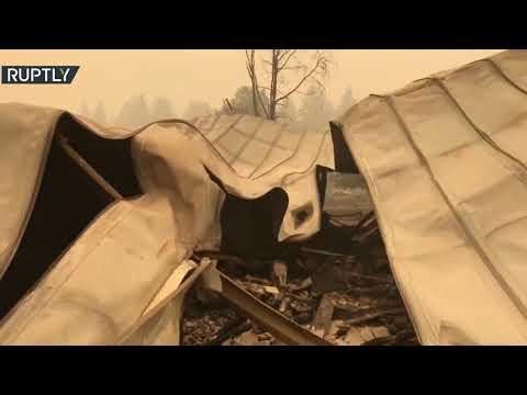 شاهد آثار الدمار الذي خلفته حرائق الغابات غربي الولايات المتحدة