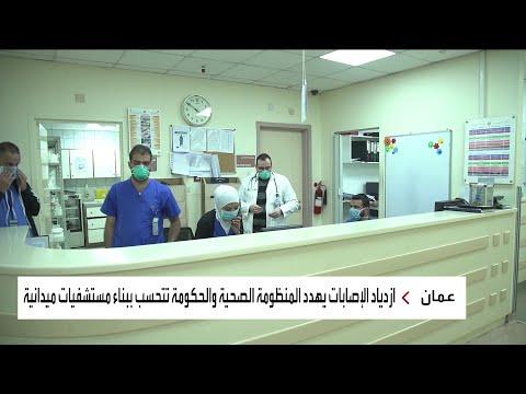شاهد استمرار ارتفاع أعداد الإصابات بفيروس كورونا في الأردن