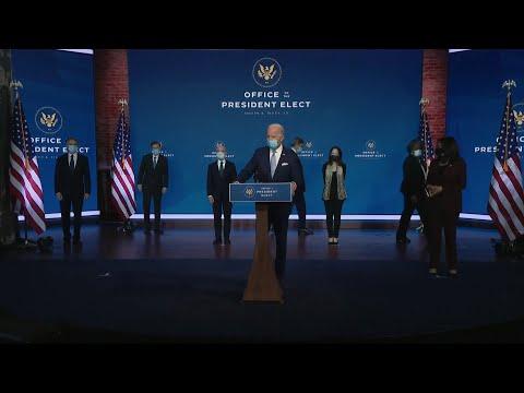 شاهد كلمة للرئيس الأميركي المنتخب جو بايدن لتقديم أعضاء في إدارته