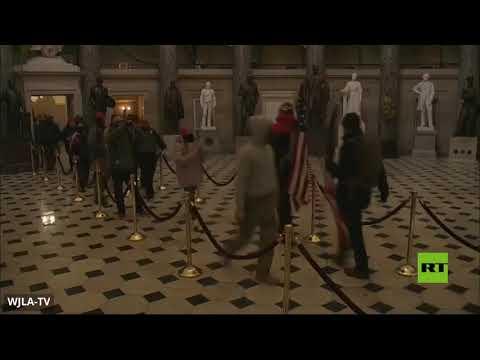 شاهد مناصرو ترامب يخترقون حواجز أمن مبنى الكابيتول ويدخلونه